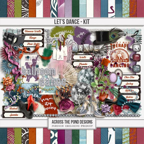 Let's Dance Page Kit Digital Art - Digital Scrapbooking Kits