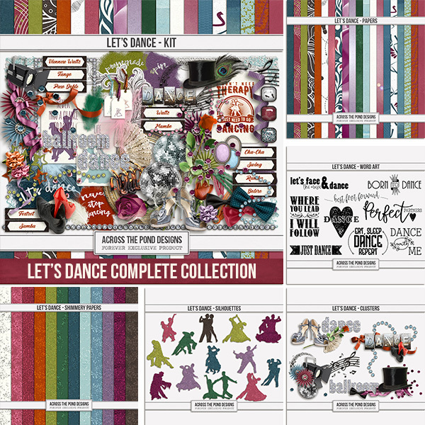 Let's Dance Complete Collection Digital Art - Digital Scrapbooking Kits