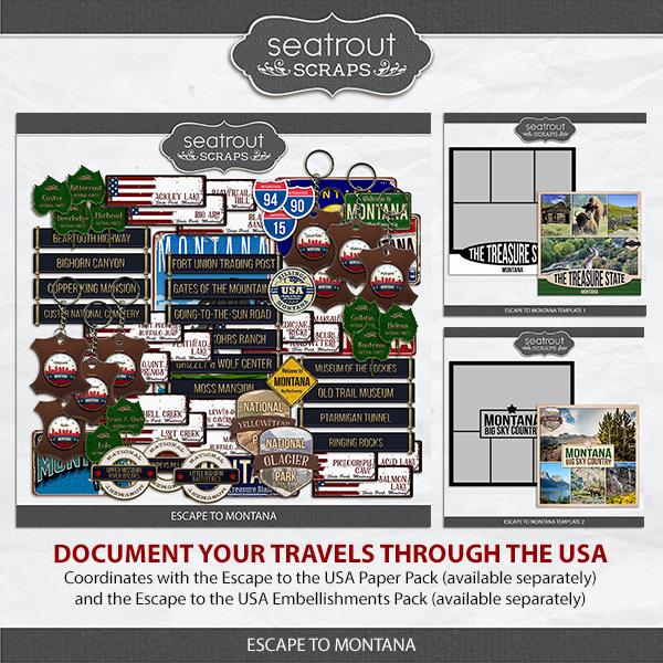 Escape to Montana Digital Art - Digital Scrapbooking Kits