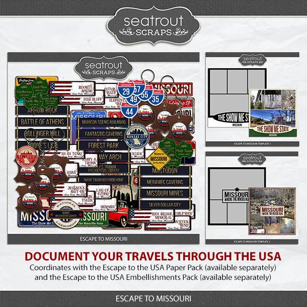 Escape to Missouri Digital Art - Digital Scrapbooking Kits