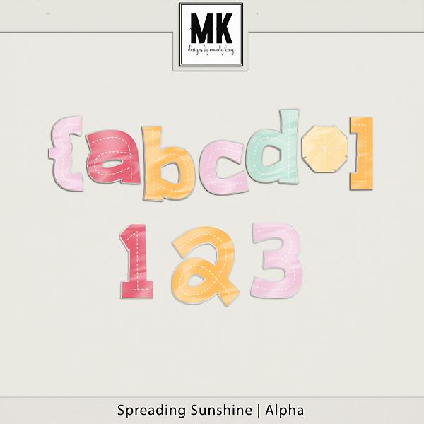 Spreading Sunshine Alpha Digital Art - Digital Scrapbooking Kits