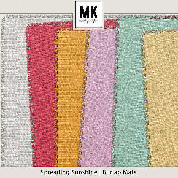 Spreading Sunshine Burlap Mattes Digital Art - Digital Scrapbooking Kits