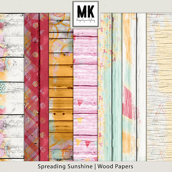 Spreading Sunshine Wood Papers