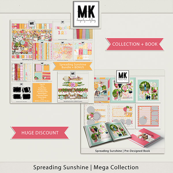 Spreading Sunshine Mega Collection Digital Art - Digital Scrapbooking Kits