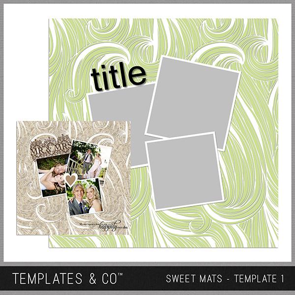 Sweet Mats - Template 1 Digital Art - Digital Scrapbooking Kits