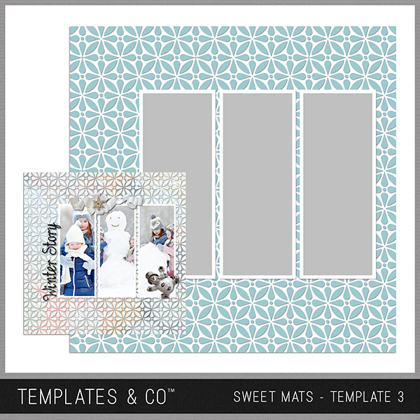 Sweet Mats - Template 3 Digital Art - Digital Scrapbooking Kits