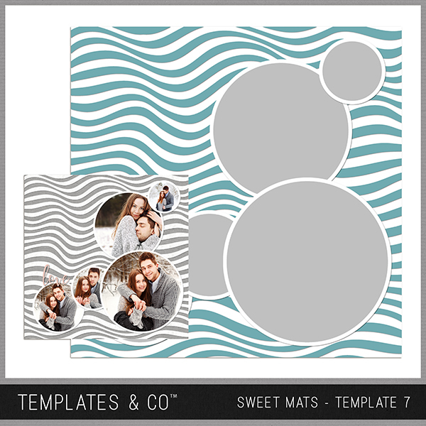 Sweet Mats - Template 7 Digital Art - Digital Scrapbooking Kits