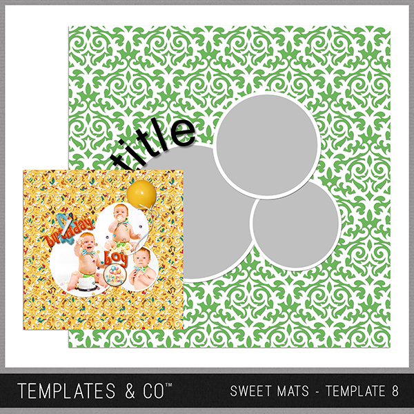 Sweet Mats - Template 8 Digital Art - Digital Scrapbooking Kits