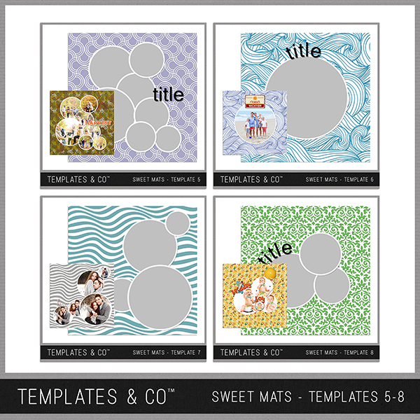 Sweet Mats - Templates 5-8 Digital Art - Digital Scrapbooking Kits