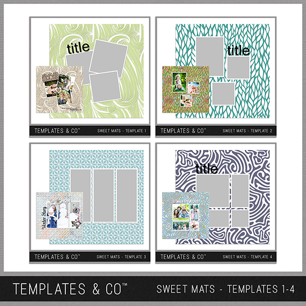 Sweet Mats - Templates 1-4 Digital Art - Digital Scrapbooking Kits