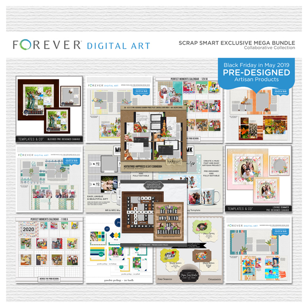 Scrap Smart Exclusive Mega Bundle Digital Art - Digital Scrapbooking Kits