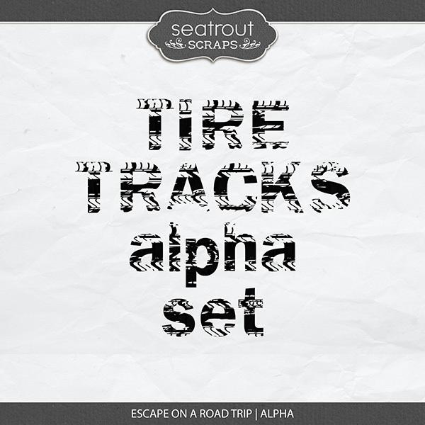 Escape on a Road Trip Alpha Digital Art - Digital Scrapbooking Kits