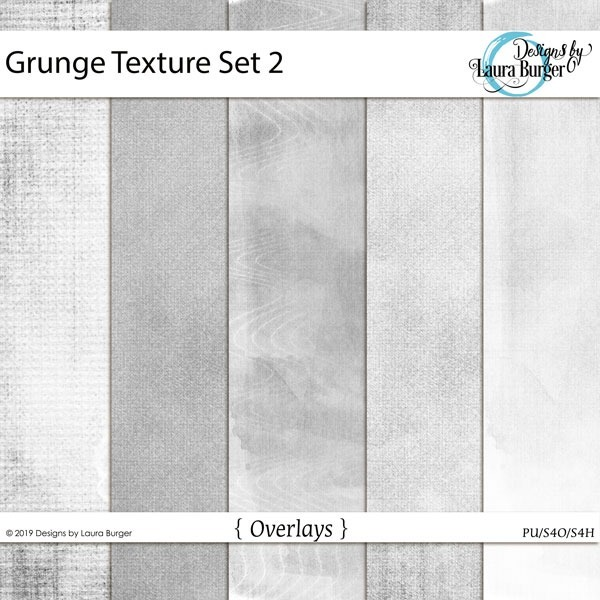Grunge Texture Set 2 Digital Art - Digital Scrapbooking Kits