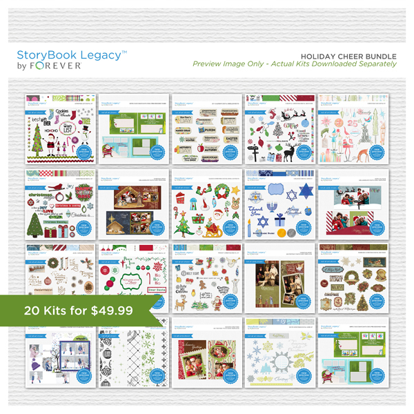 Holiday Cheer StoryBook Legacy™ Bundle Digital Art - Digital Scrapbooking Kits