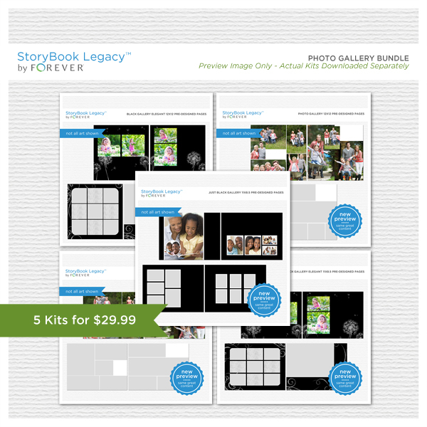Photo Gallery StoryBook Legacy™ Bundle Digital Art - Digital Scrapbooking Kits