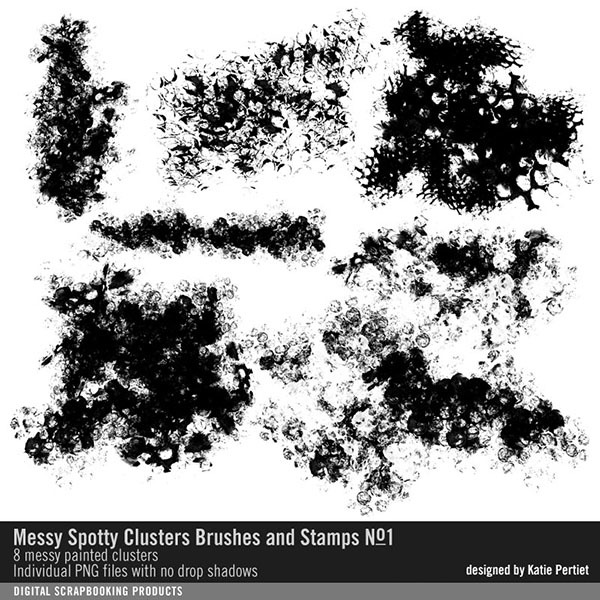 Messy Spotty Clusters Brushes and Stamps No. 01
