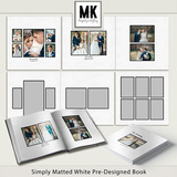 Simply Matted White Pre-Designed Book