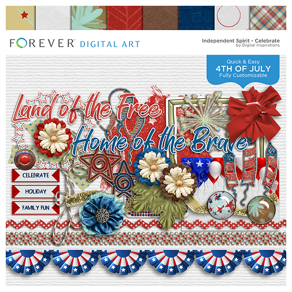 Independent Spirit Celebrate Digital Art - Digital Scrapbooking Kits