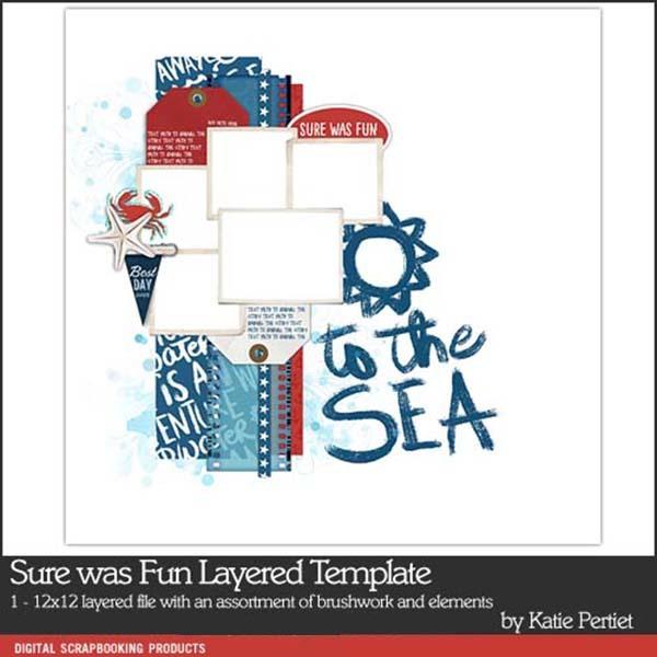 Sure was Fun Layered Template Digital Art - Digital Scrapbooking Kits