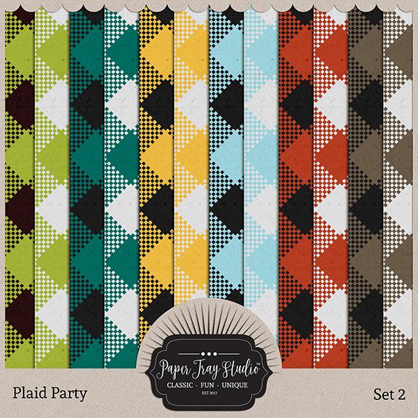 Plaid Party 2 Digital Art - Digital Scrapbooking Kits