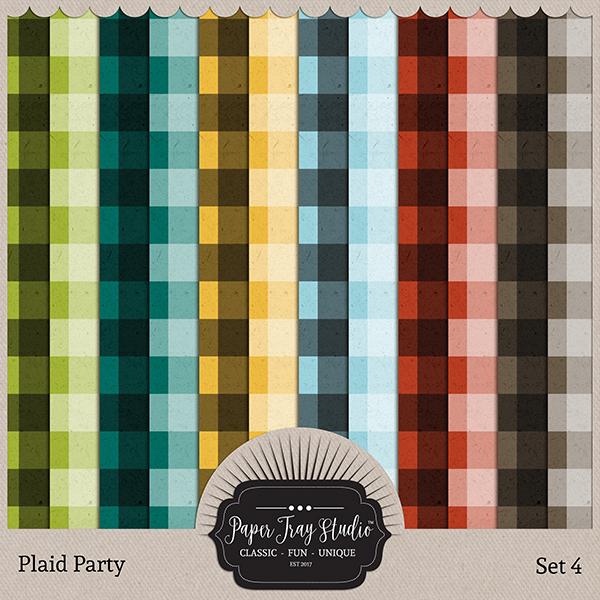 Plaid Party 4 Digital Art - Digital Scrapbooking Kits