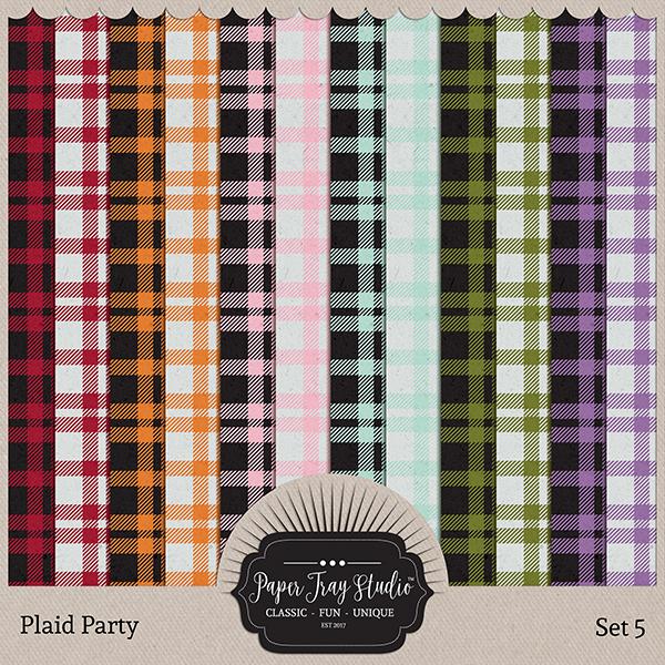 Plaid Party 5 Digital Art - Digital Scrapbooking Kits
