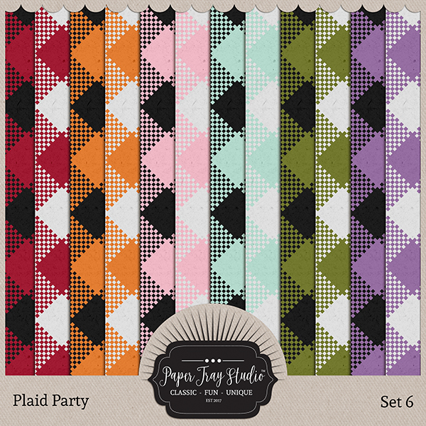 Plaid Party 6 Digital Art - Digital Scrapbooking Kits