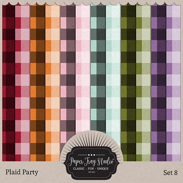 Plaid Party 8 Digital Art - Digital Scrapbooking Kits