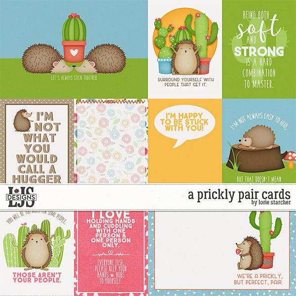 A Prickly Pair Cards Digital Art - Digital Scrapbooking Kits