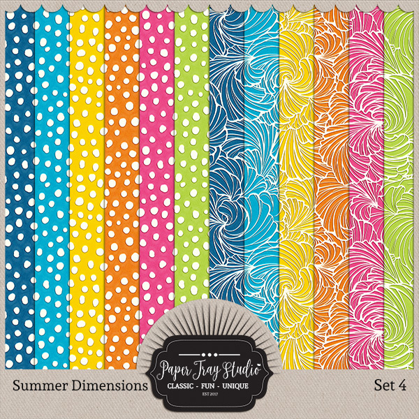 Summer Dimensions Set 4 Digital Art - Digital Scrapbooking Kits