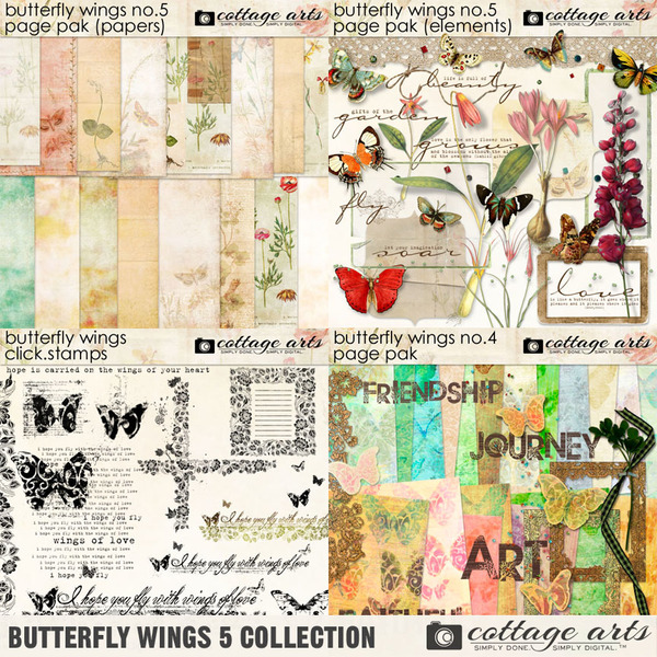 Butterfly Wings 5 Collection Digital Art - Digital Scrapbooking Kits
