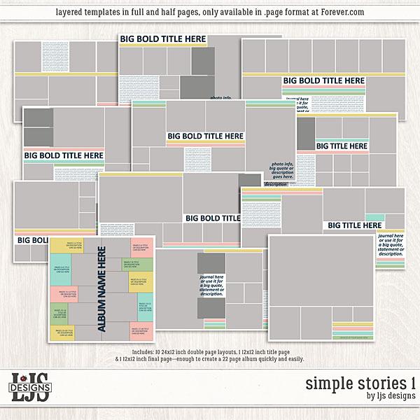 Simple Stories 1 Digital Art - Digital Scrapbooking Kits
