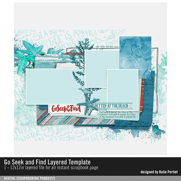 Go Seek and Find Layered Template