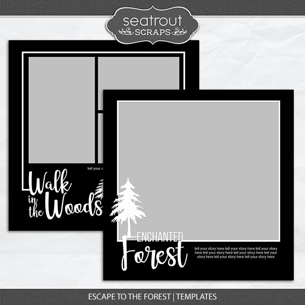 Escape to the Forest Templates Digital Art - Digital Scrapbooking Kits