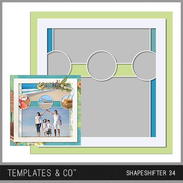 Shapeshifter 34 Digital Art - Digital Scrapbooking Kits