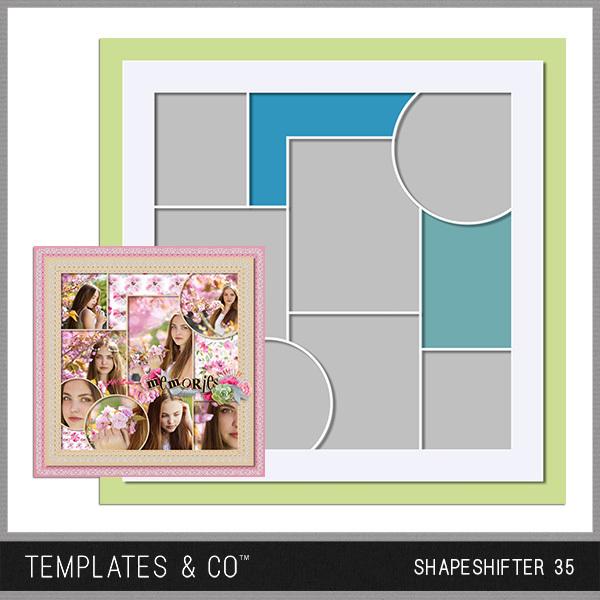 Shapeshifter 35 Digital Art - Digital Scrapbooking Kits