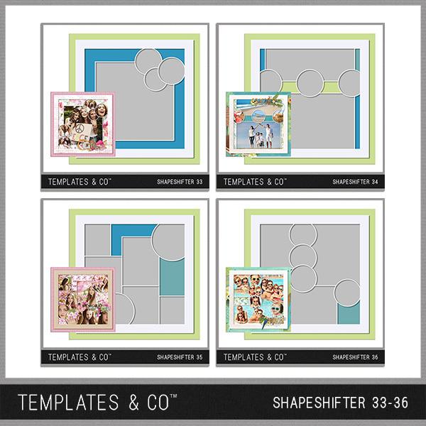 Shapeshifter 33-36 Digital Art - Digital Scrapbooking Kits