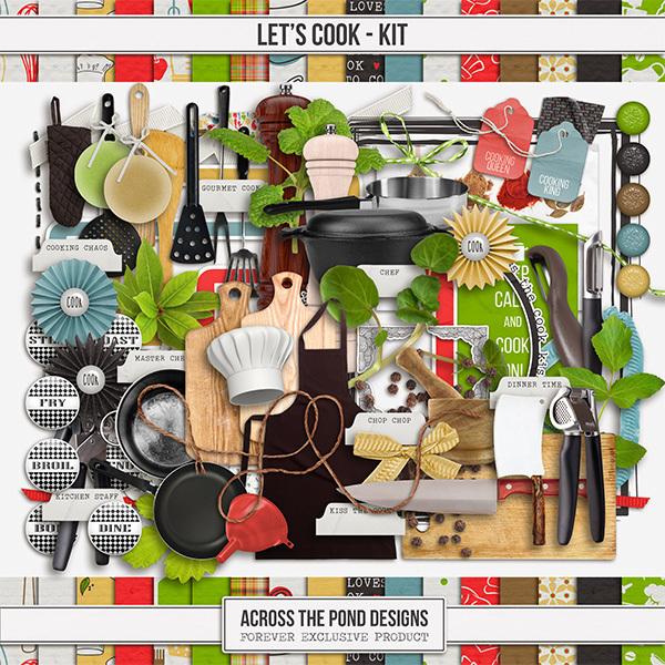 Let's Cook Kit Digital Art - Digital Scrapbooking Kits