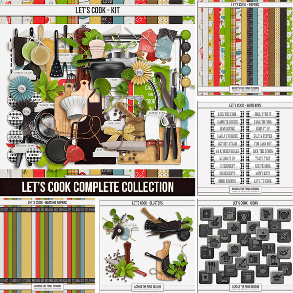 Let's Cook Complete Collection Digital Art - Digital Scrapbooking Kits