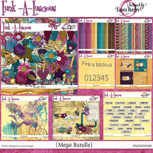 Funkaluscious Mega Bundle Digital Art - Digital Scrapbooking Kits