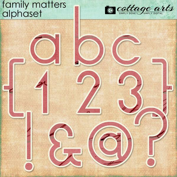 Family Matters AlphaSet Digital Art - Digital Scrapbooking Kits