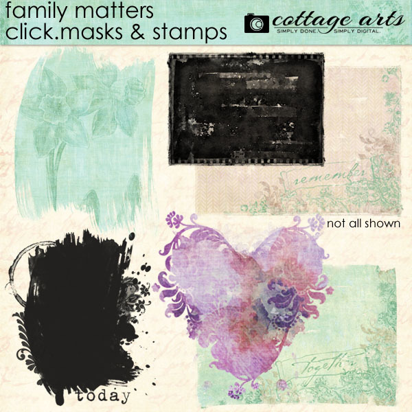 Family Matters Click.Masks & Stamps Digital Art - Digital Scrapbooking Kits