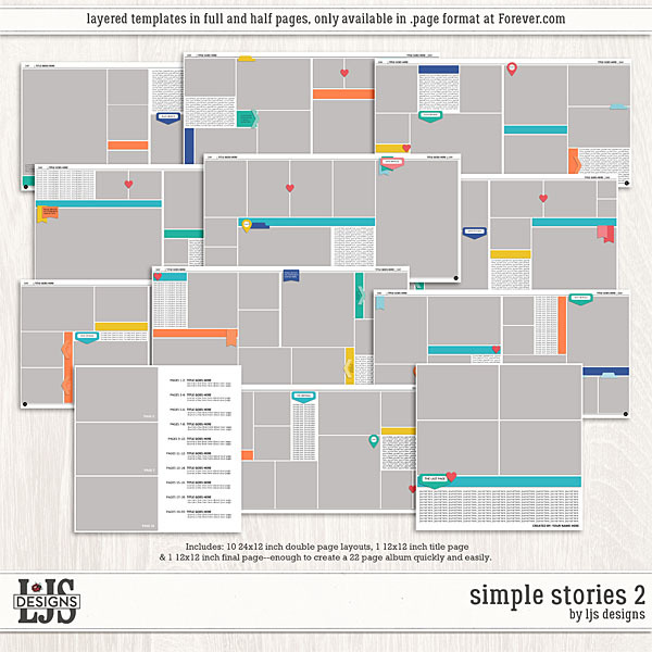 Simple Stories 2 Digital Art - Digital Scrapbooking Kits