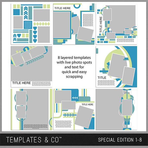 Special Edition 1-8 Digital Art - Digital Scrapbooking Kits