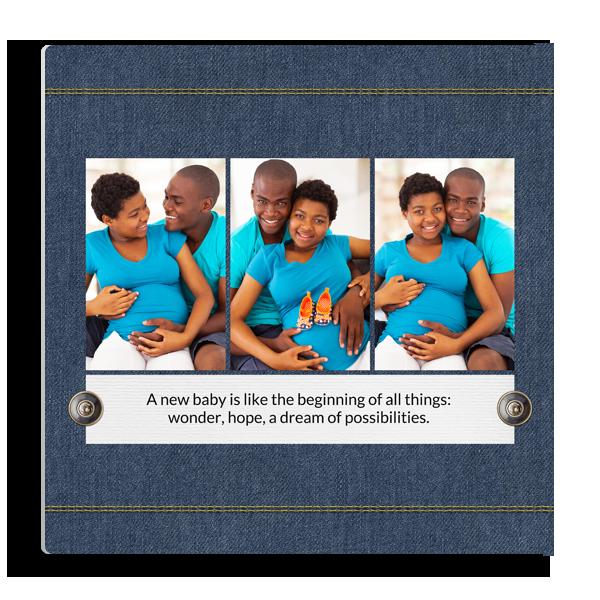 Blue Denim 3 Panel
