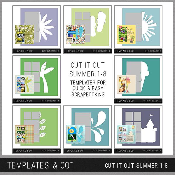 Cut It Out Summer 1-8 Digital Art - Digital Scrapbooking Kits
