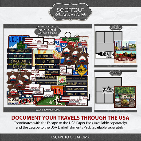 Escape to Oklahoma Digital Art - Digital Scrapbooking Kits