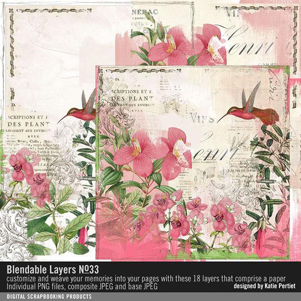 Blendable Layers No. 33 Digital Art - Digital Scrapbooking Kits