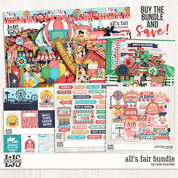 All's Fair Bundle Digital Art - Digital Scrapbooking Kits