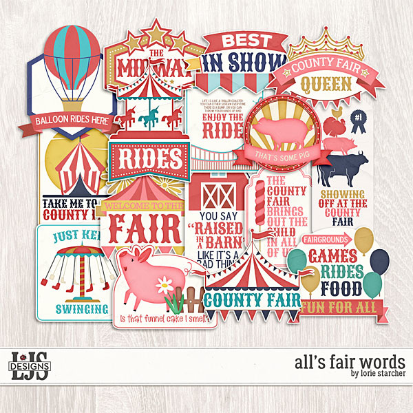 All's Fair Words Digital Art - Digital Scrapbooking Kits